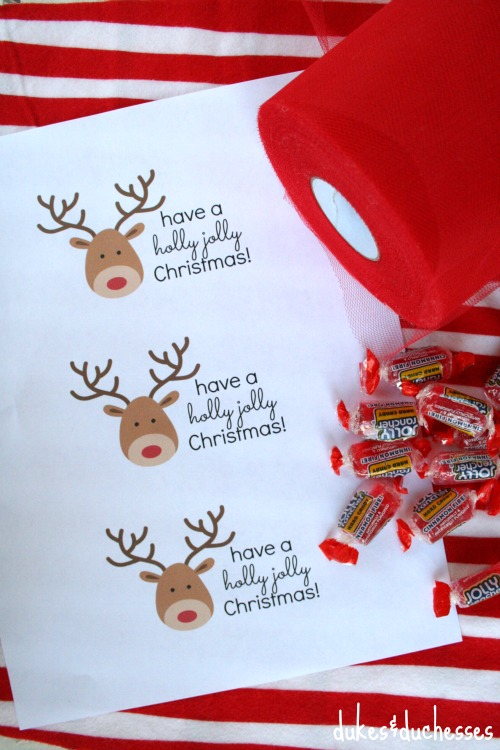 a christmas printable with jolly ranchers