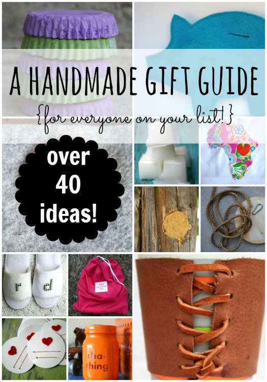 a handmade gift guide for everyone on your list