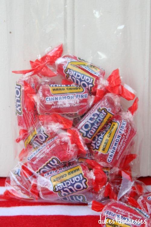 cinnamon jolly rancher candies in a bag