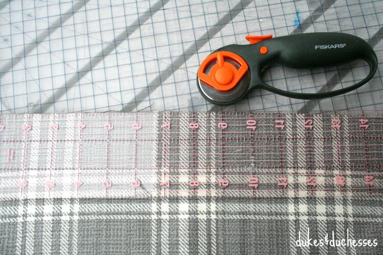 cutting edges of wrap