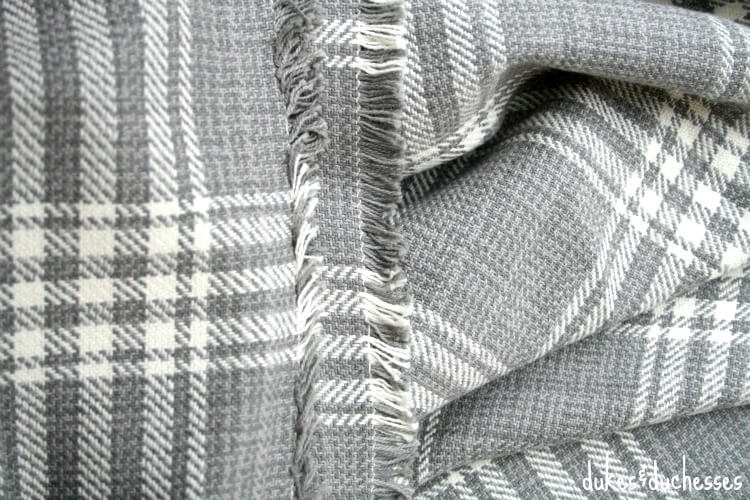 fabric for DIY wrap with toggle closure