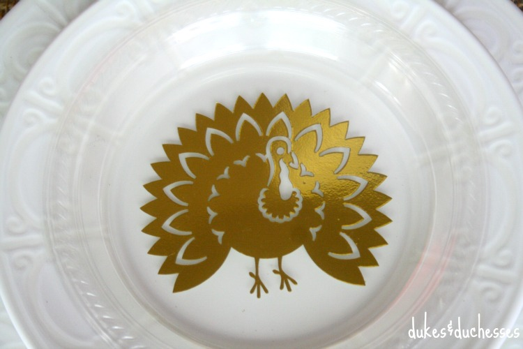 food safe turkey plate made with vinyl
