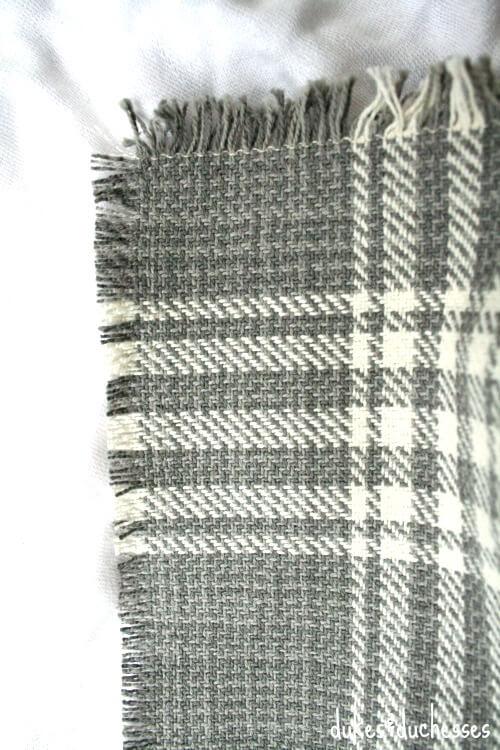fringe on DIY wrap with toggle closure