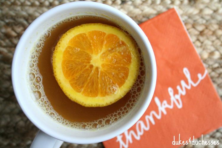 garnished citrus cider