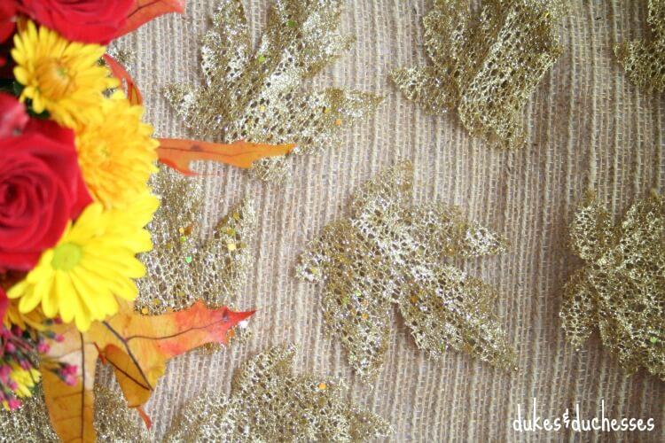 gold leaf table runner