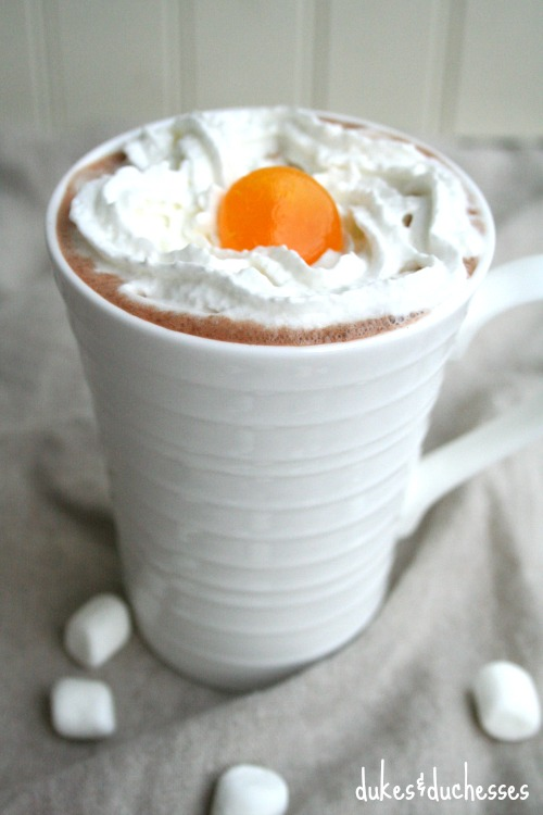 hot cocoa with butterscotch schnapps