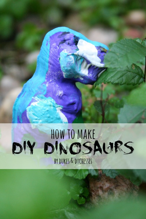 how to make DIY dinosaurs
