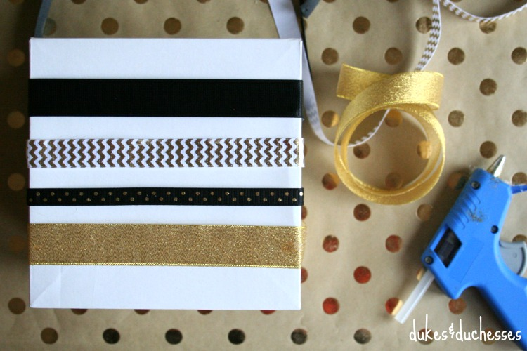 how to wrap a gift with ribbon