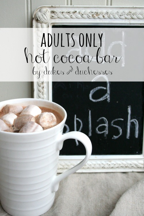 ideas for adults only hot cocoa bar