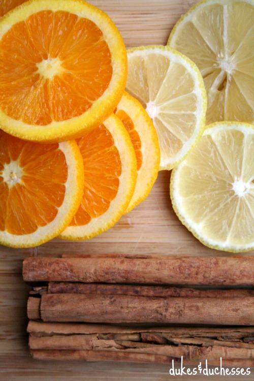 ingredients for citrus cider