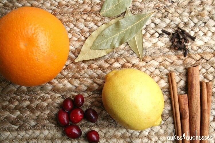 ingredients for stovetop potpourri