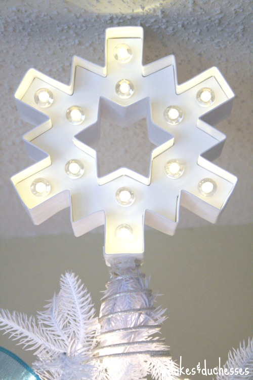 marquee snowflake tree topper