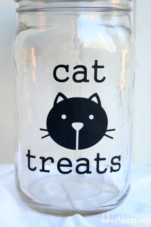 mason jar for cat treats