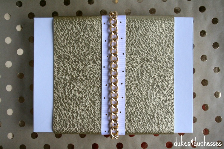 metallic gift wrap ideas