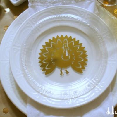 DIY Gold Turkey Plates