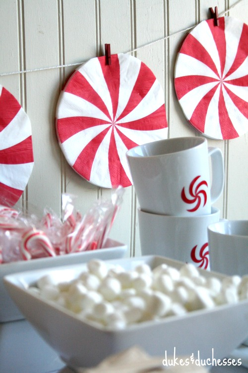 peppermint candy garland