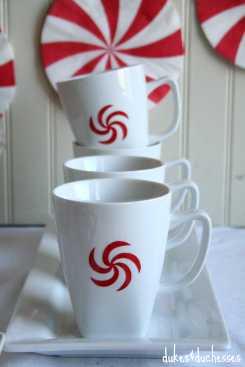 peppermint candy vinyl on mugs