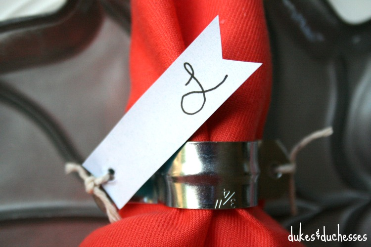 place card napkin ring