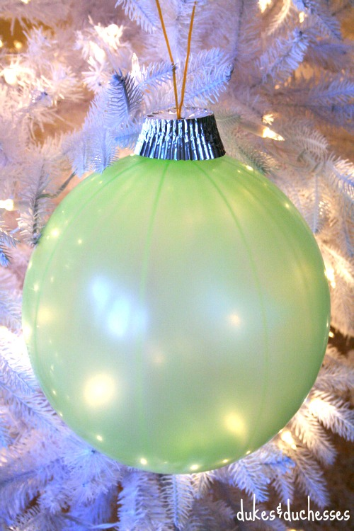 repurposed punch balloon ornament