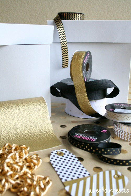 ribbon selection for gift wrap
