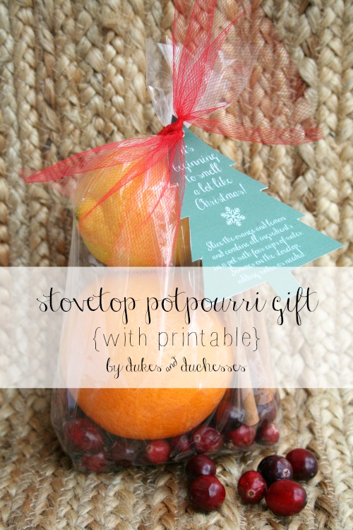 stovetop potpourri gift with printable