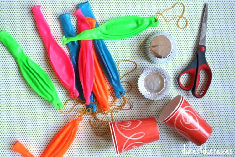 supplies for DIY punching balloons ornaments