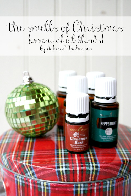 the smells of Christmas essential oil blends