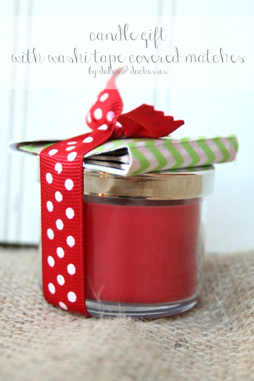 candle gift with washi tape