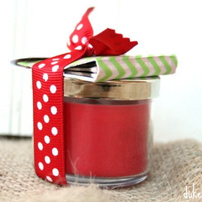 Candle Gift with Washi Tape Covered Matches