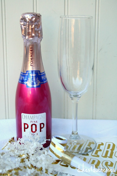 champagne party favors for new year's eve