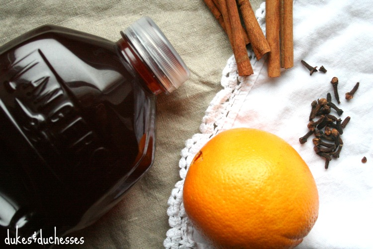 ingredients for hot cranberry cider