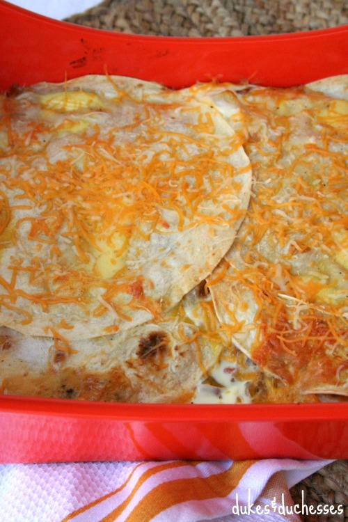 layered mexican breakfast casserole
