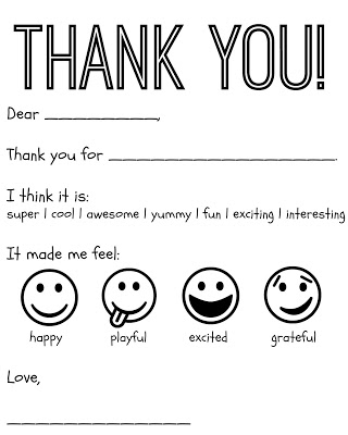 10 free printable thank you notes cards for kids
