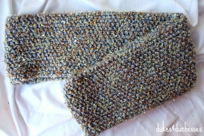 Knit Seed Stitch Infinity Scarf Dukes And Duchesses