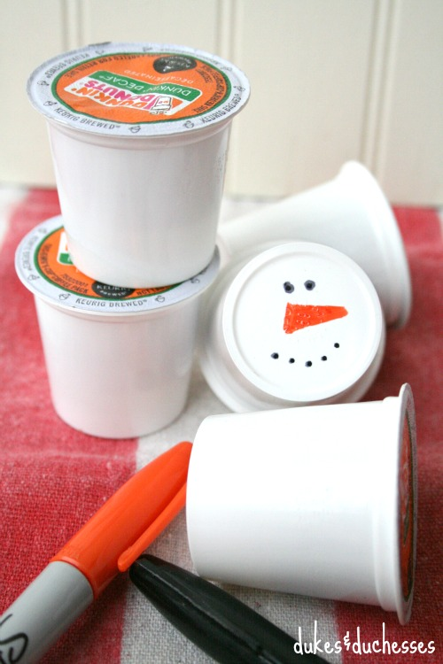 snowman coffee pods