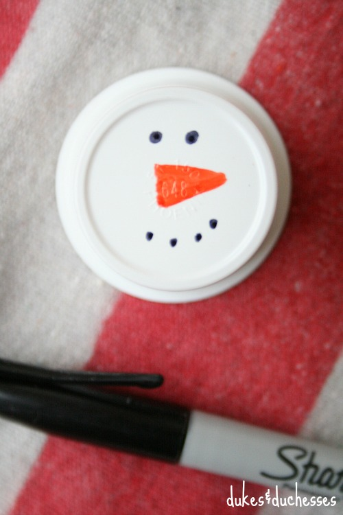snowman on coffee k cup