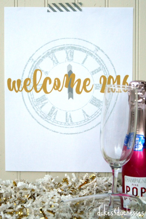 welcome 2016 printable