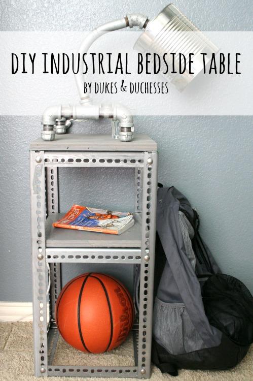 DIY industrial bedside table