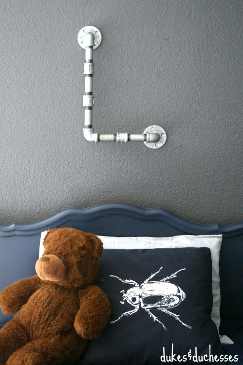 DIY plumbing pipe monogram