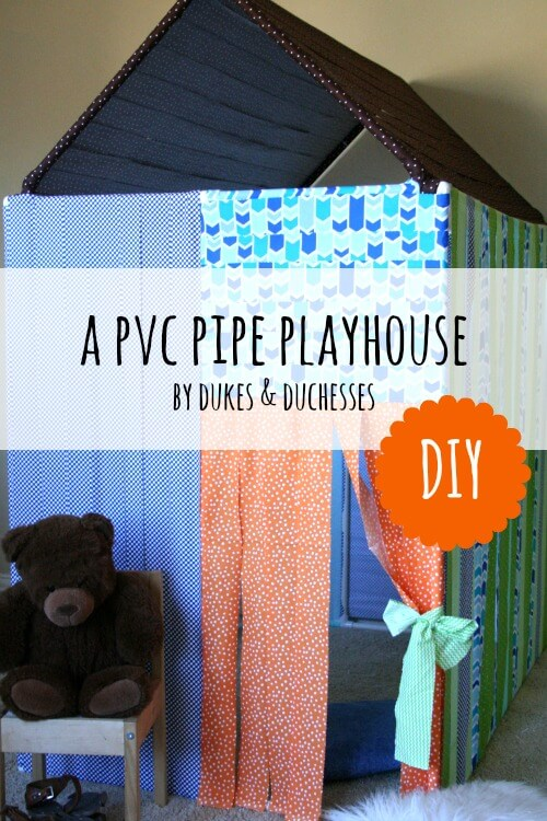 PVC pipe playhouse