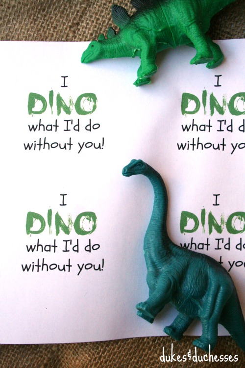 dino printable for dino valentines