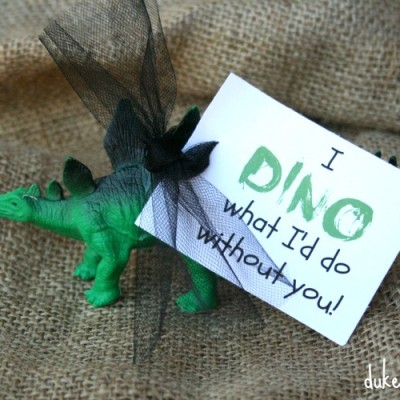 Dino Valentine with Printable