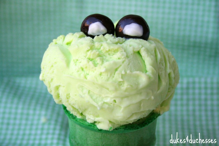 frog eyes on ice cream cone for leap year