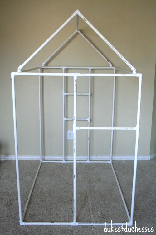 how to use pvc pipe to make a playhouse