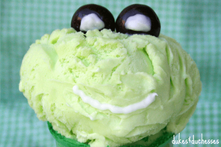 leap year frog ice cream cone
