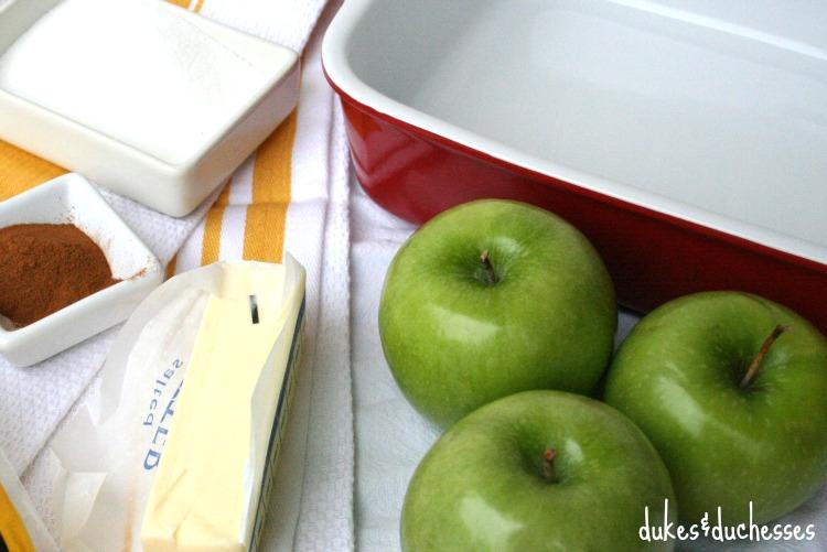main ingredients for tortilla apple dumplings