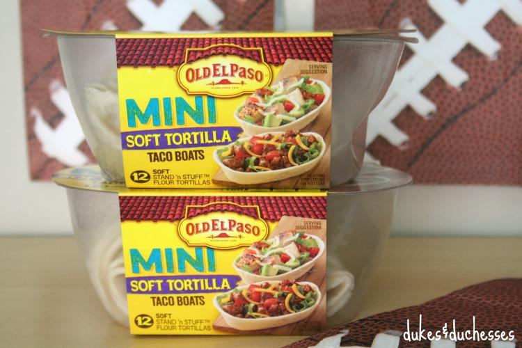 mini soft tortilla taco boats