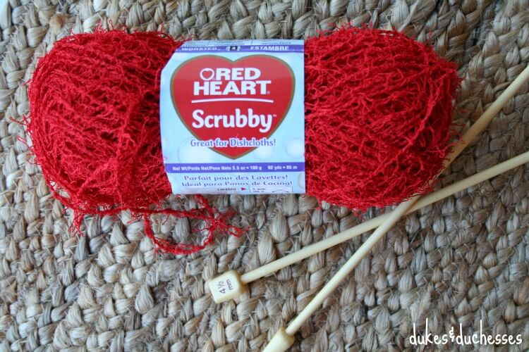 red heart scrubby yarn for knit dish scrubbies