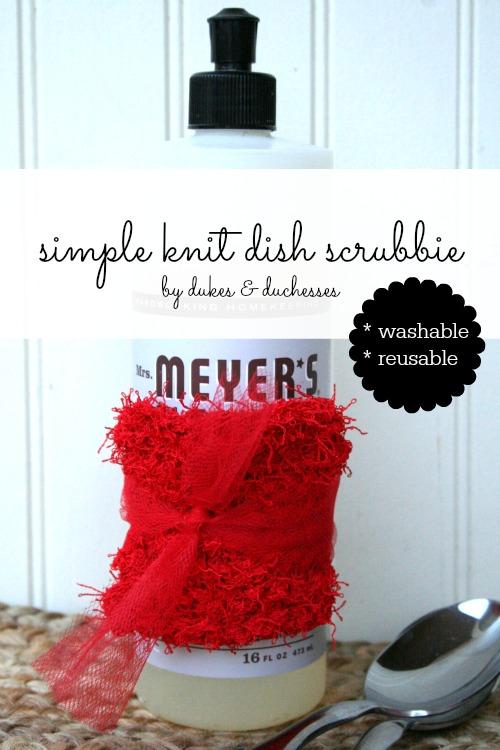 knit dish scrubbie