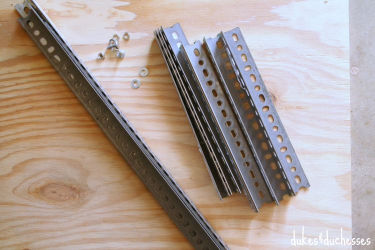supplies for DIY industrial bedside table